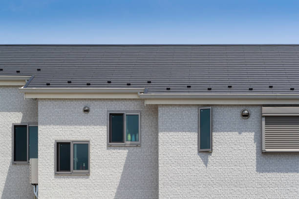 Close-up Exterior of modern house stock photo