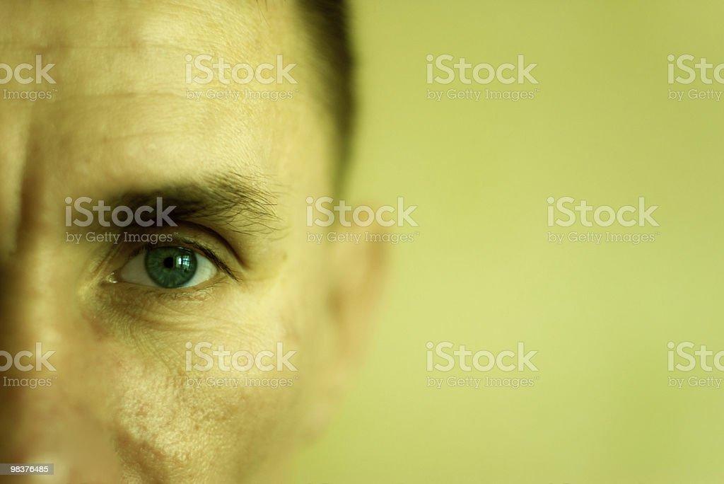 Closeup face man royalty-free stock photo