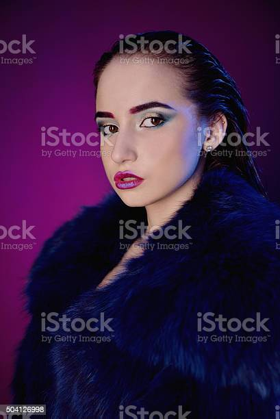 Closeup Face Of Beautiful Model With Fashion Bright Makeup Stock Photo Download Image Now Istock