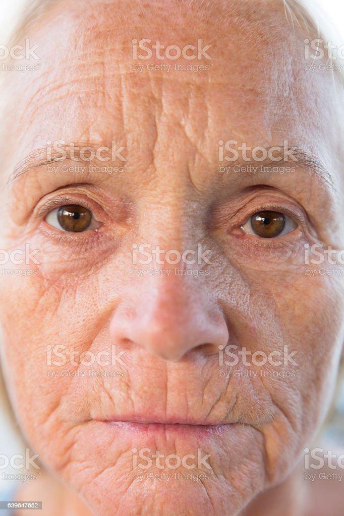 Closeup mature wife
