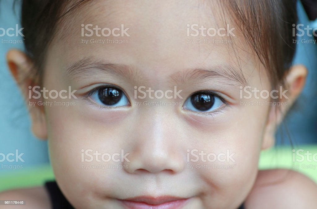 4072e29f69fe Closeup Face Of Smiling Cute Asian Child Girl Portrait Beautiful ...