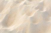 Close-up fine beach sand texture on the beach