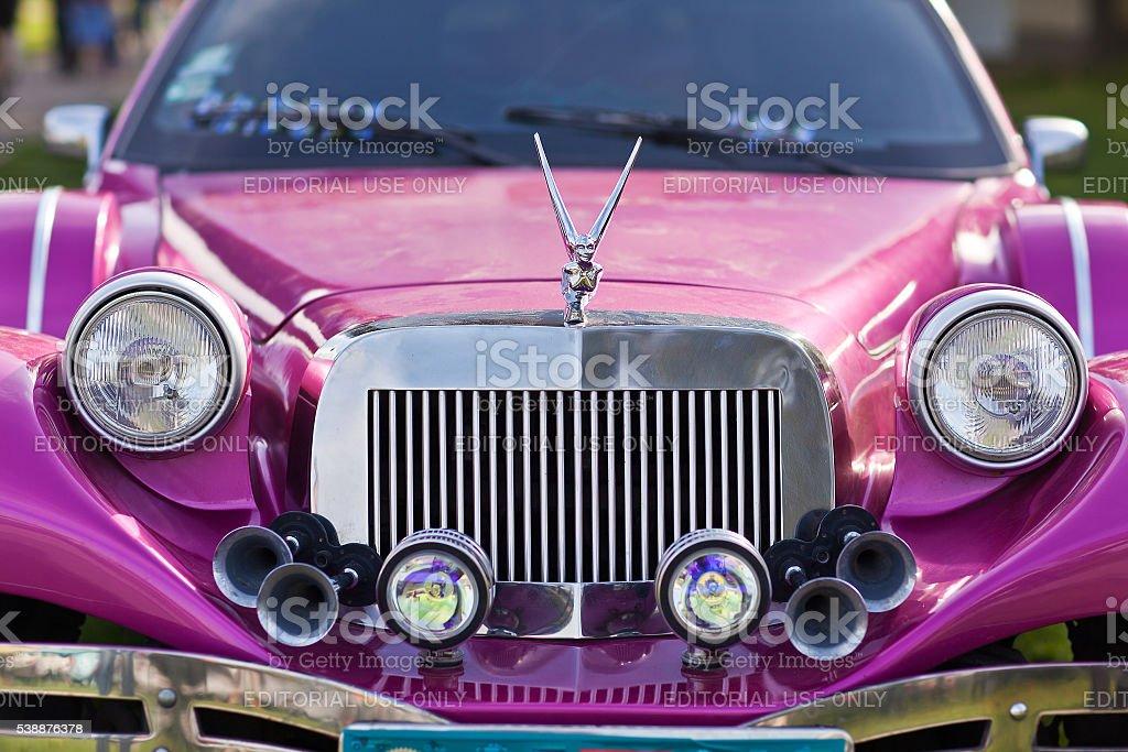 Close-up  front of the  car Limousine Excalibur Phantom stock photo