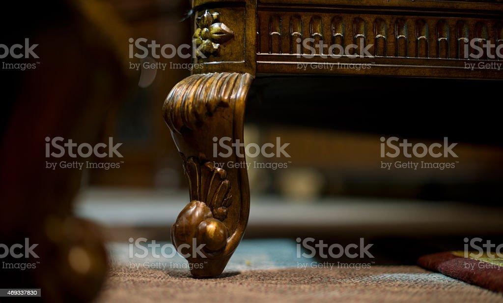 Close-up furniture feet stock photo