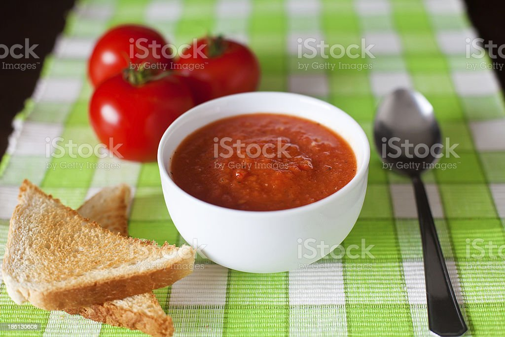 Close-up Gazpacho Soup royalty-free stock photo