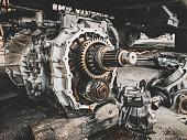 istock Closeup gears of car engines. 1192394285