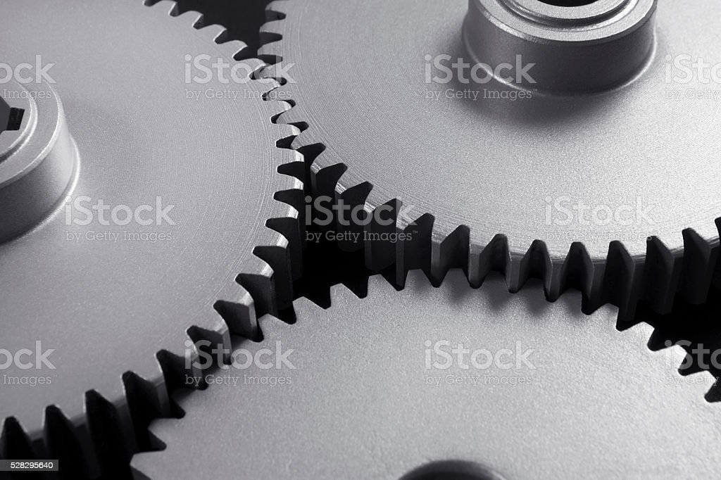 Close-Up Gears stock photo