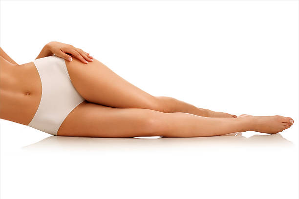 closeup girl lying on the floor showing beautiful legs - leotard stock pictures, royalty-free photos & images