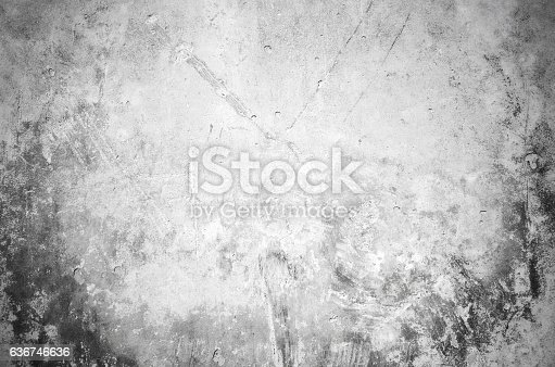 1061630554 istock photo Close-up gray grunge old wall cracked texture concrete cement background 636746636
