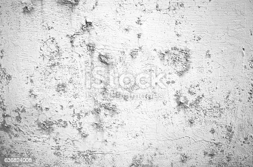 1061630554 istock photo Close-up gray grunge old wall cracked texture concrete cement background 636824008