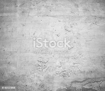 istock Close-up gray white grunge old wall texture concrete cement background 618202958