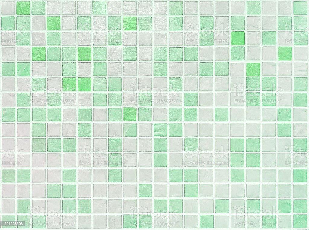 Closeup green tiles in bathroom wall texture background photo libre de droits