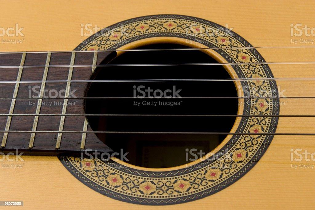 Close-up Guitar royalty-free stock photo