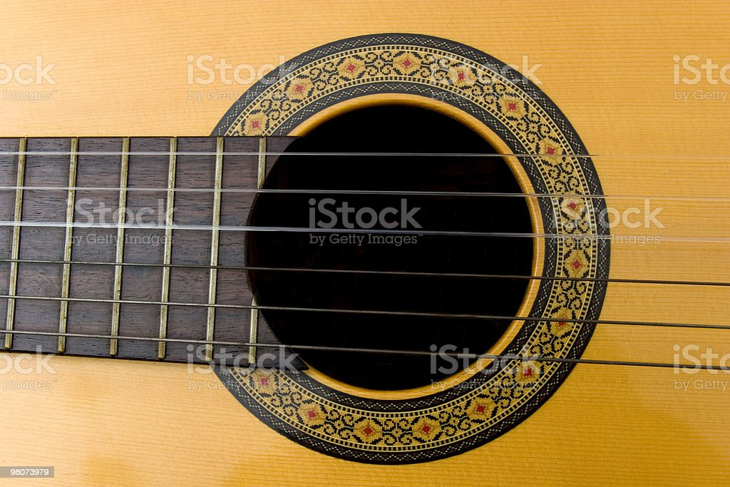 Close-up Guitar royalty-free stock photo