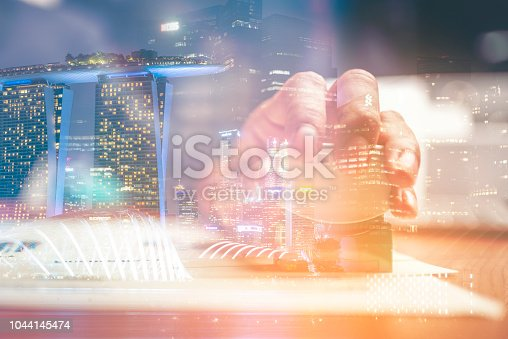 istock Close-up hand stamping of businessman for signing approval on documents , business concept 1044145474