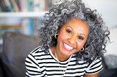 istock Closeup Headshot of a Beautiful Black Woman 1136640456
