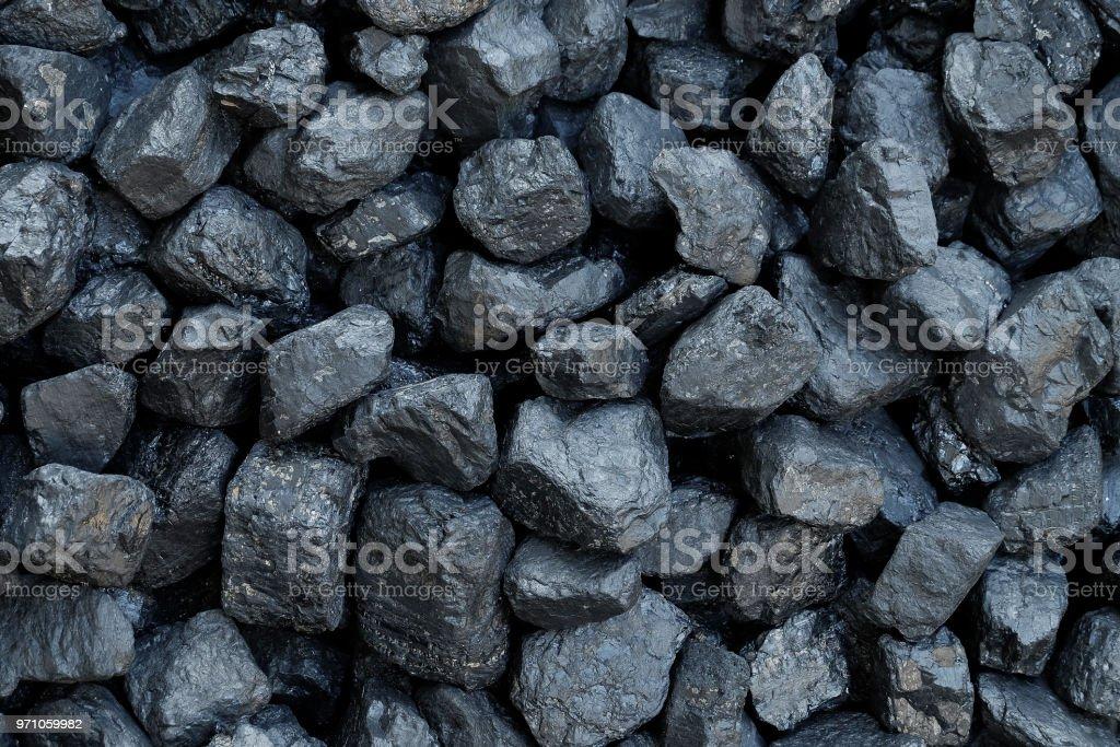 Nahaufnahme-Haufen Kohle – Foto