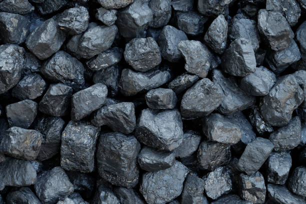 close-up - heap of coal - coal stock pictures, royalty-free photos & images