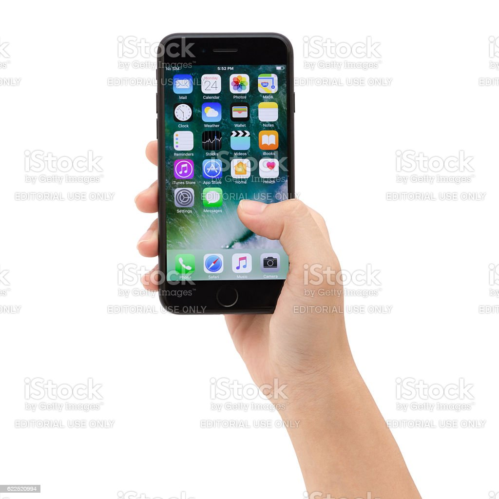 closing apps on iphone closeup holding iphone 7 showing app screen stock photo 1473