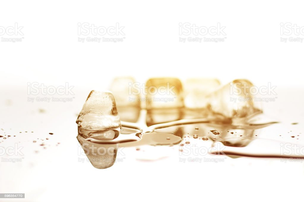closeup ice cubes with light,concept melt and warming royalty-free stock photo
