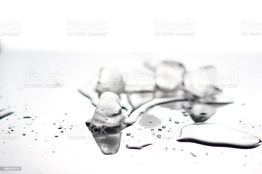 closeup ice cubes,melt royalty-free stock photo