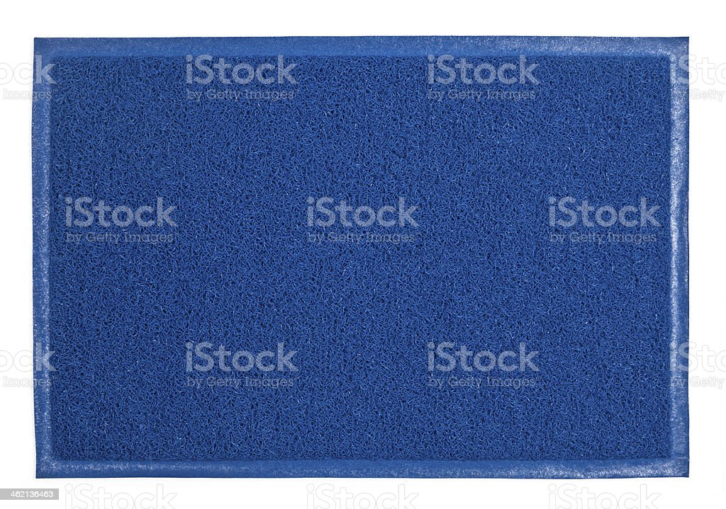 Close-up image of a blue fuzzy soft carpet stock photo