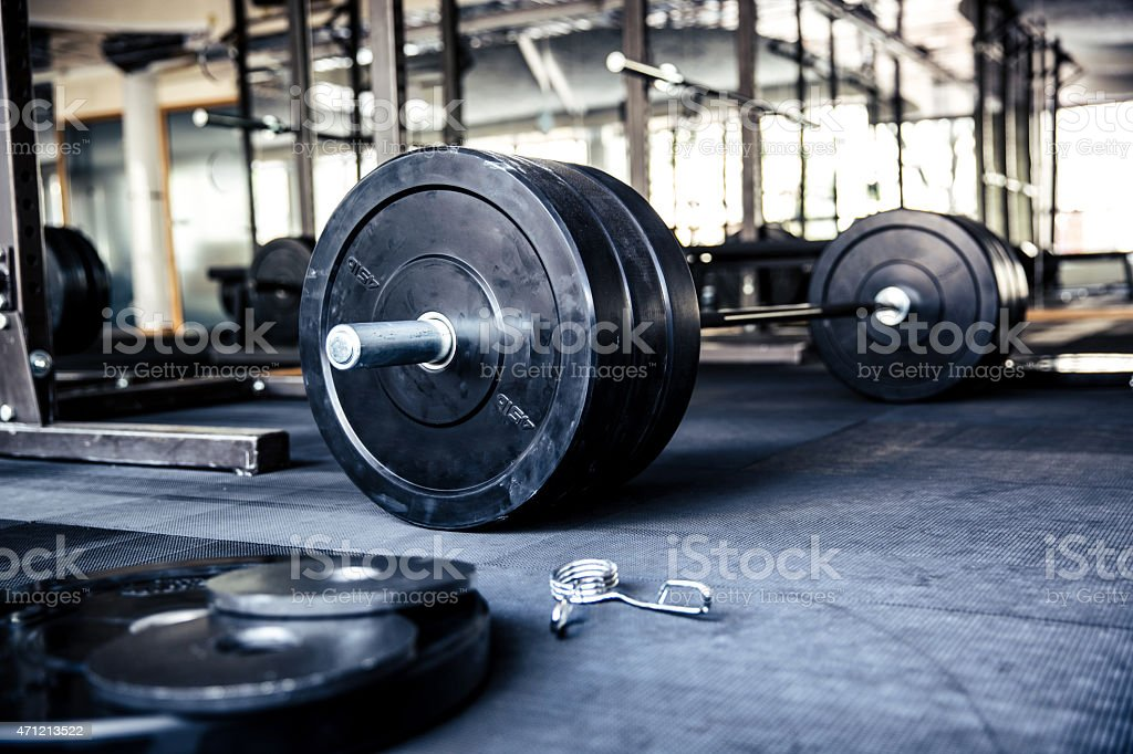 Closeup image of a fitness equipment stock photo