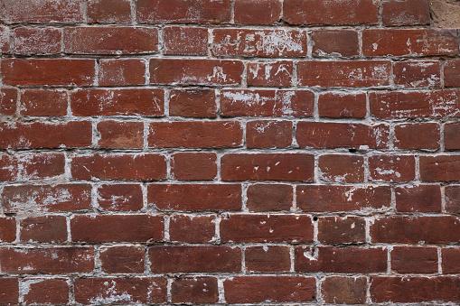 Close-up image of an old brick wall.