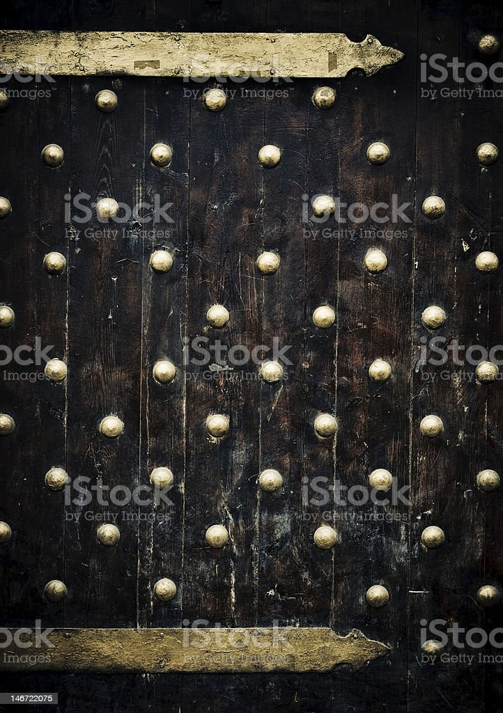 close-up image of ancient doors royalty-free stock photo