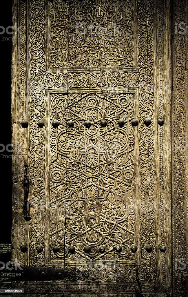 close-up image of ancient doors stock photo