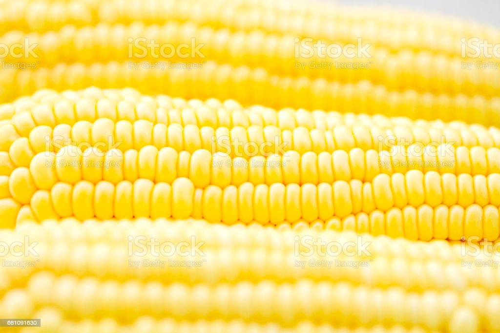 Close-up image of fresh yellow sweet corn royalty-free stock photo