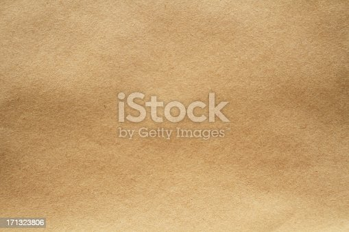 istock Close-up image of light brown paper texture 171323806
