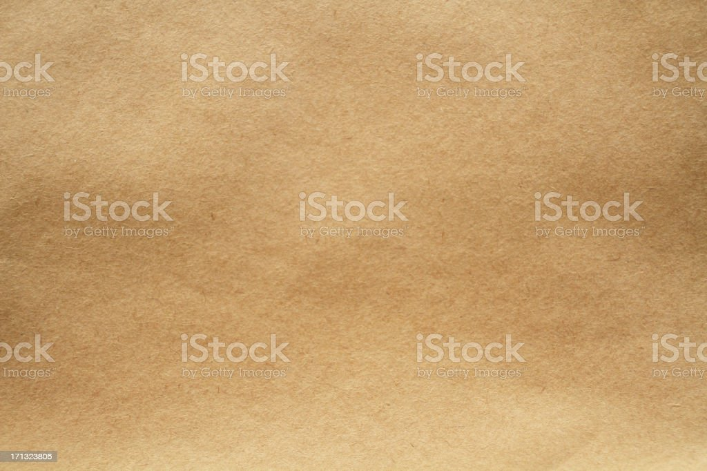 Close-up image of light brown paper texture stock photo
