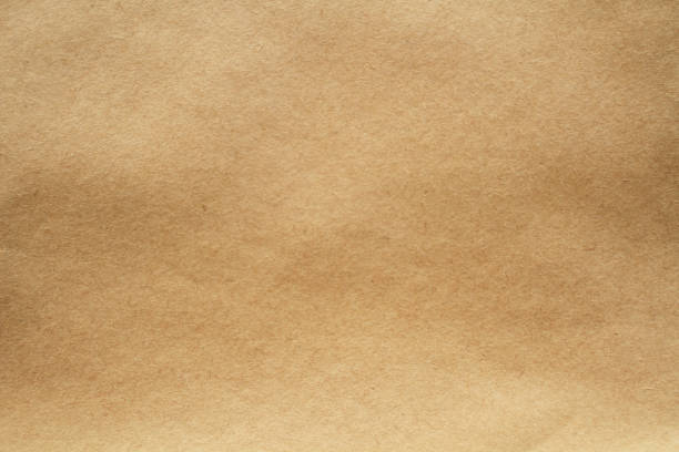 Close-up image of light brown paper texture foto