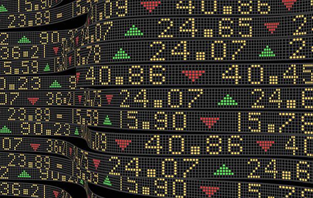 stock market tickers - kurstafel stock-fotos und bilder