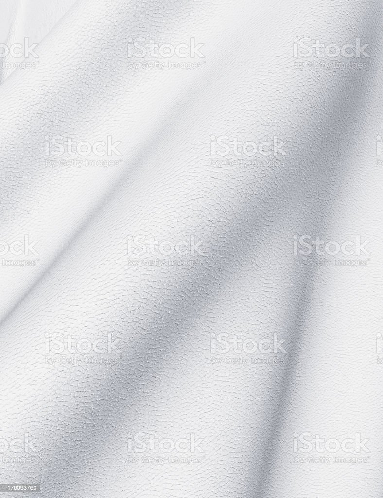 Close-up image of white leather with folds royalty-free stock photo
