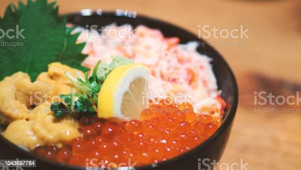 Closeup images of japanese seafood rice bowl or kaisendon sashimi picture id1043697784?b=1&k=6&m=1043697784&s=612x612&h=oebmfphjtubxihsb zwasztyr8kr7gv9id5v4rusywy=