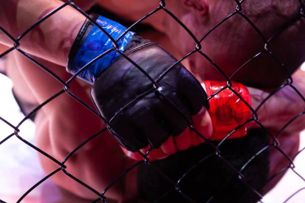 Bir yakın çekim profesyonel güçlü MMA avcı olduğunu stok fotoğrafı