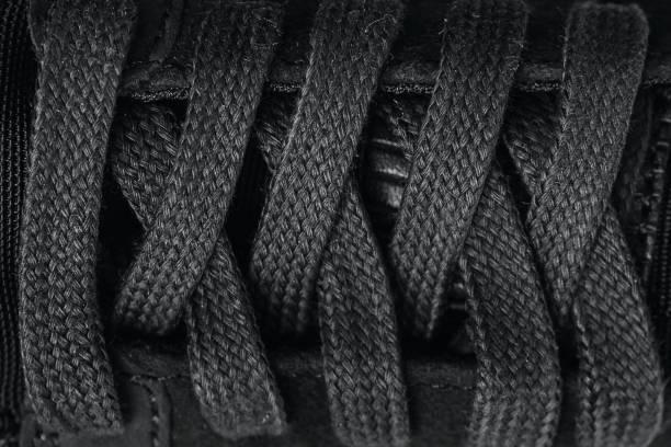 closeup schnürung hintergrundtextur für design - schnürsenkel stock-fotos und bilder