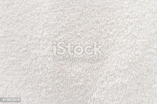 istock Close-up macro of white towel cloth 873623576