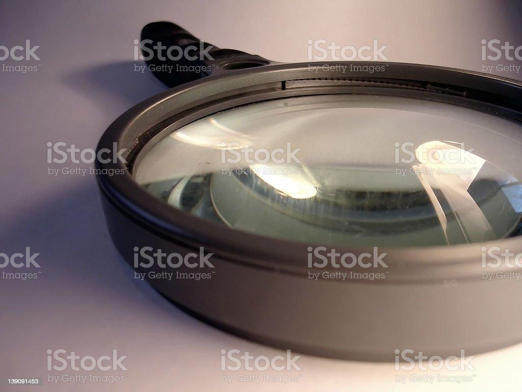 Closeup Magnifying Glass royalty-free stock photo