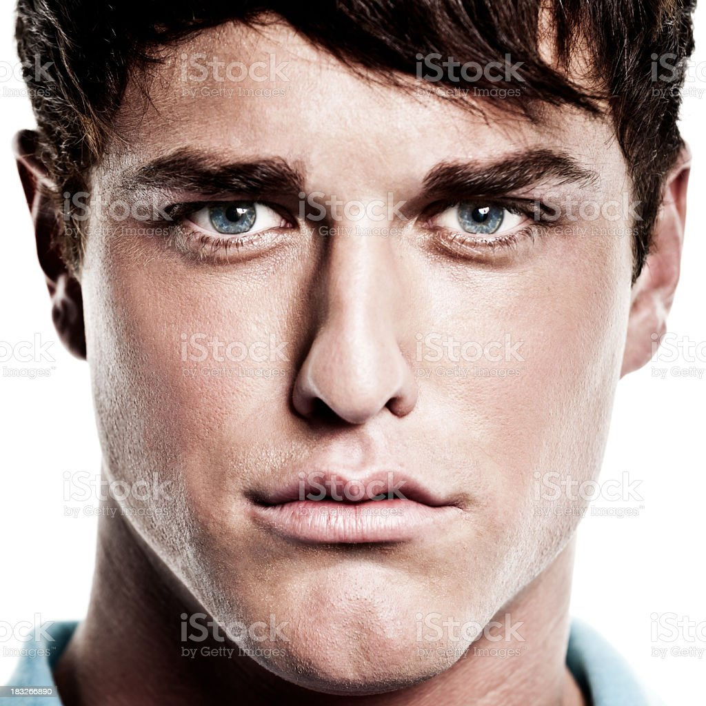 Close-up Male Portrait stock photo