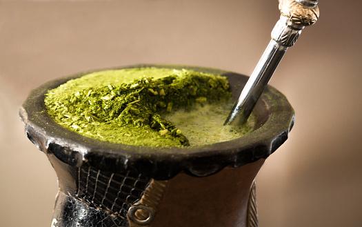 Close-up mate tea drink