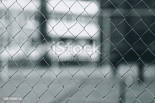Close-up metal mesh fence for background