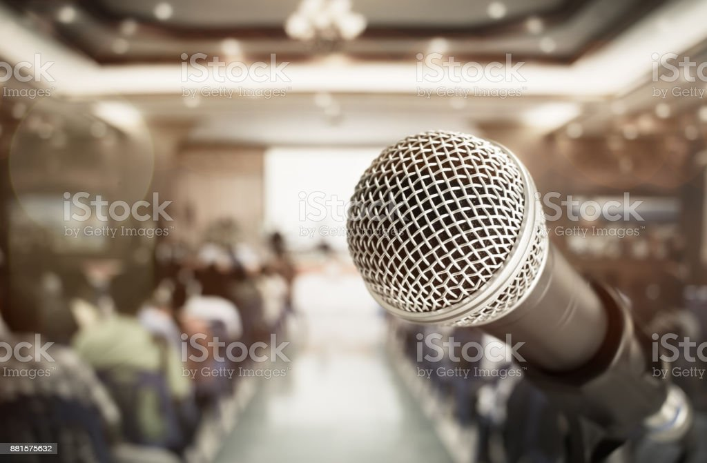 close-up microphone for speech and teaching at meeting room,...
