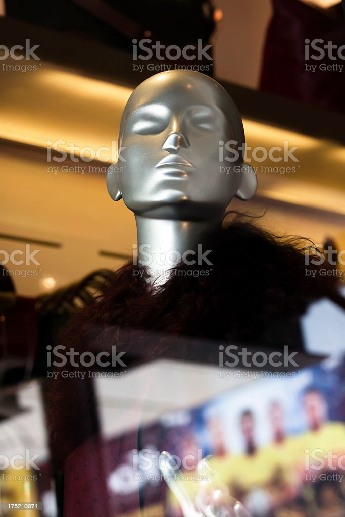 Closeup modern silver female Mannequin royalty-free stock photo