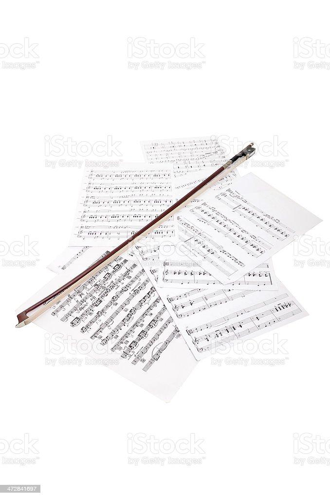CLose-up Music Sheet royalty-free stock photo