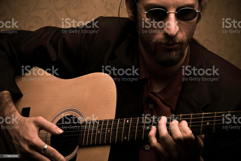 Closeup Musician stock photo