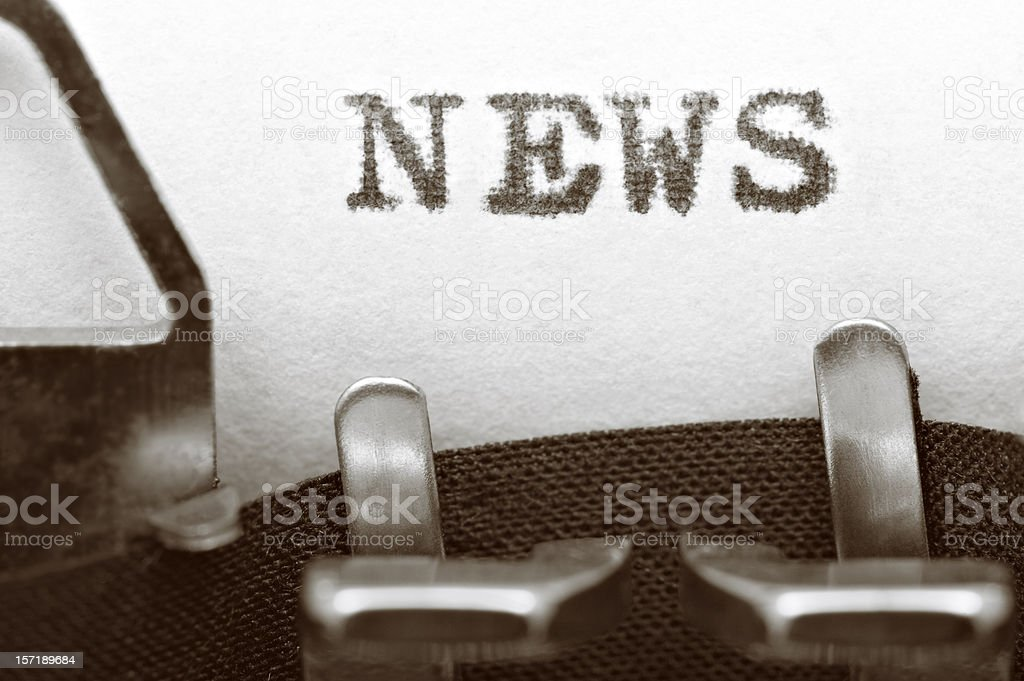 Close-up NEWS royalty-free stock photo