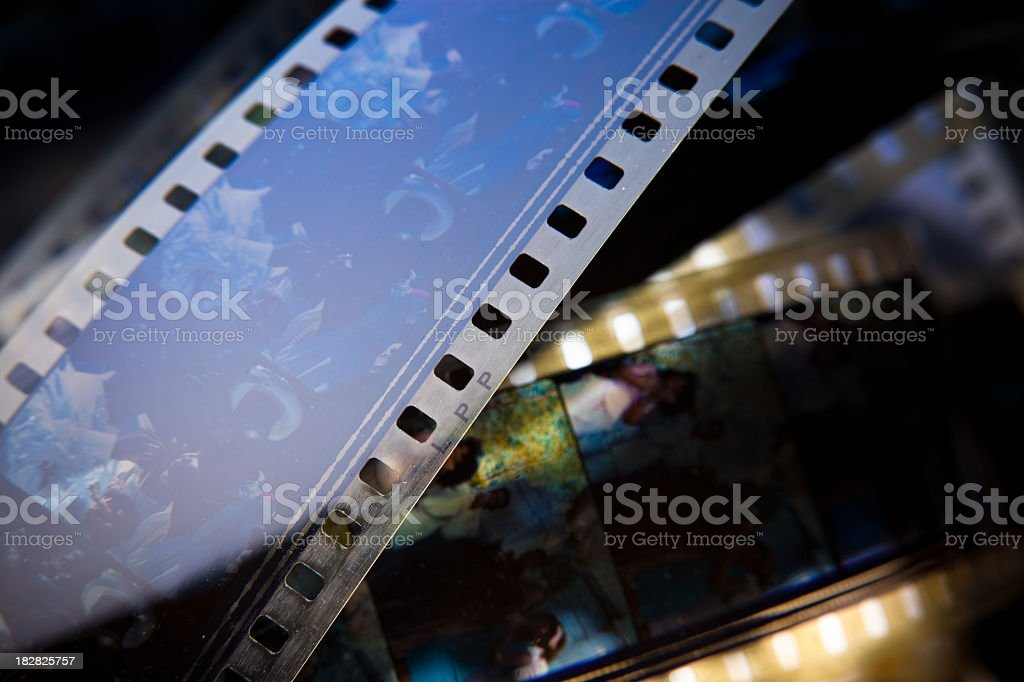 Closeup of 35mm Film stock photo